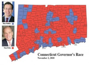Torrington Register-Citizen Gubernatorial Results Map 2010